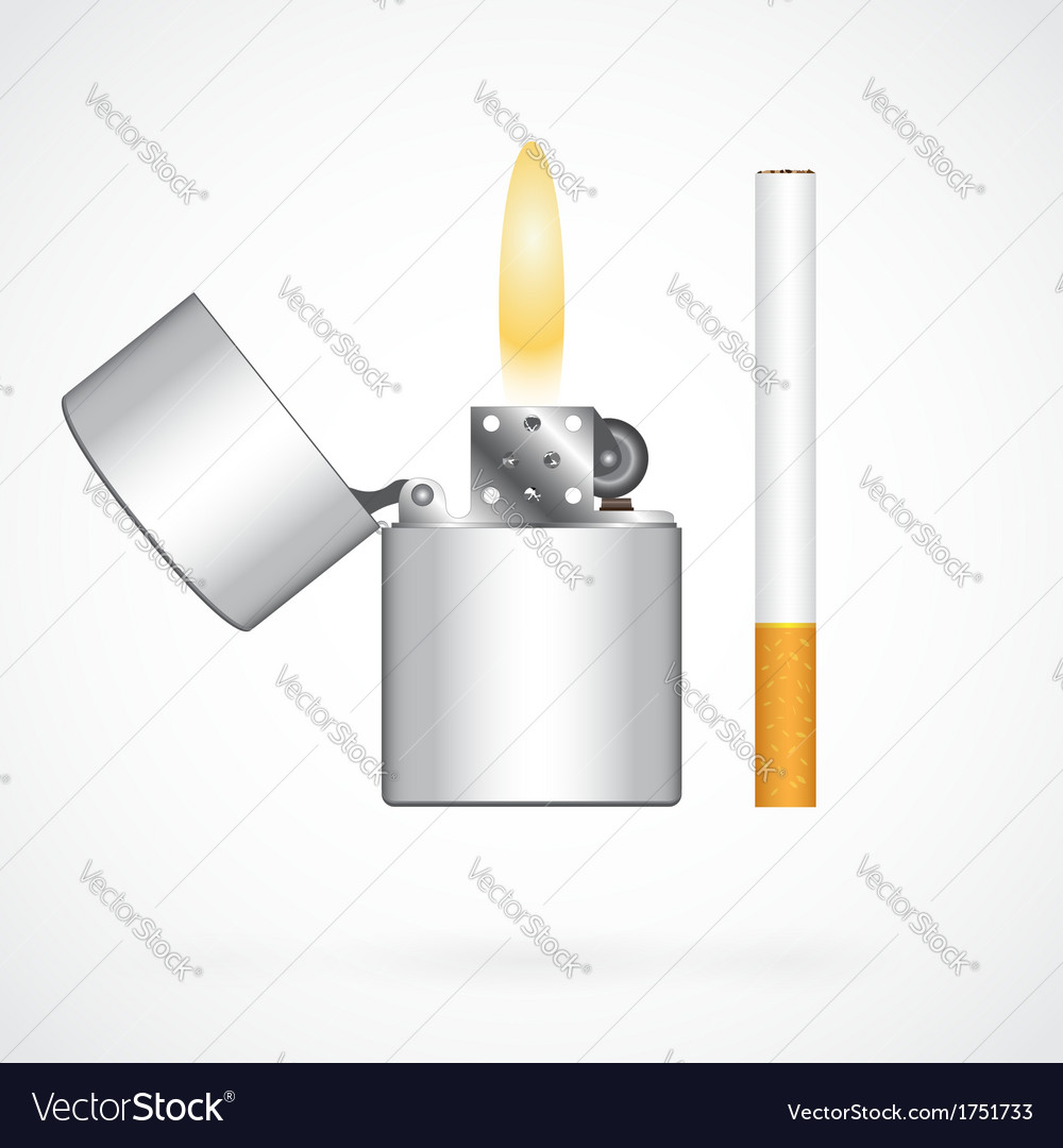 Lighter and cigarette vector | Price: 1 Credit (USD $1)