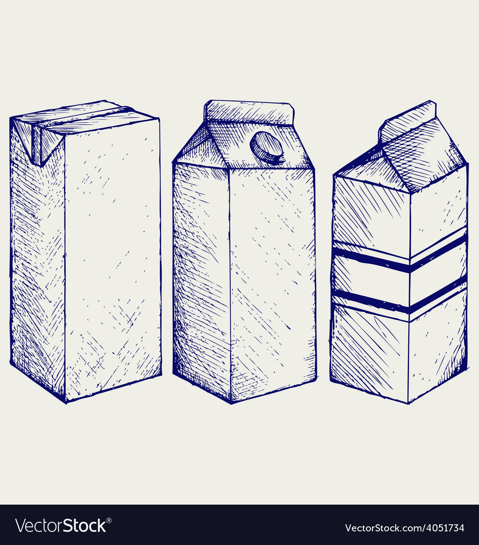 A set of boxes for milk and juice vector | Price: 1 Credit (USD $1)