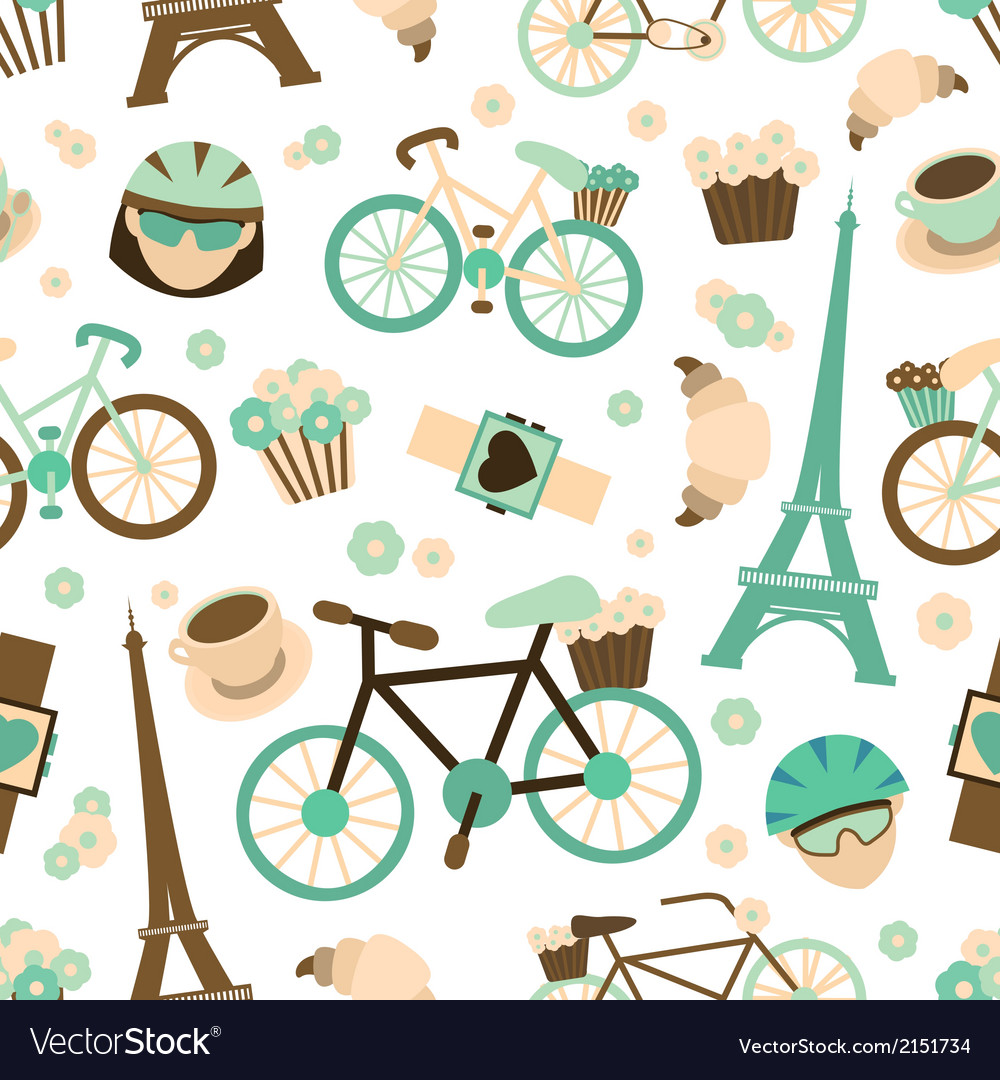 Bicycle seamless pattern vector | Price: 1 Credit (USD $1)