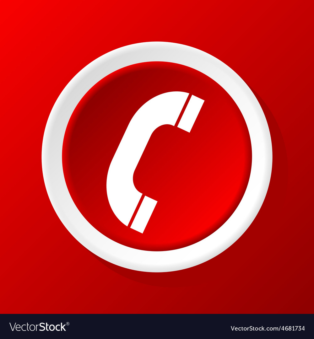 Call icon on red vector | Price: 1 Credit (USD $1)