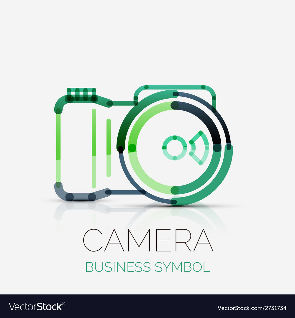 Camera icon company logo business symbol concept vector | Price: 1 Credit (USD $1)