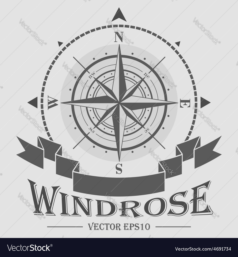 Corporate logo with windrose vector | Price: 1 Credit (USD $1)