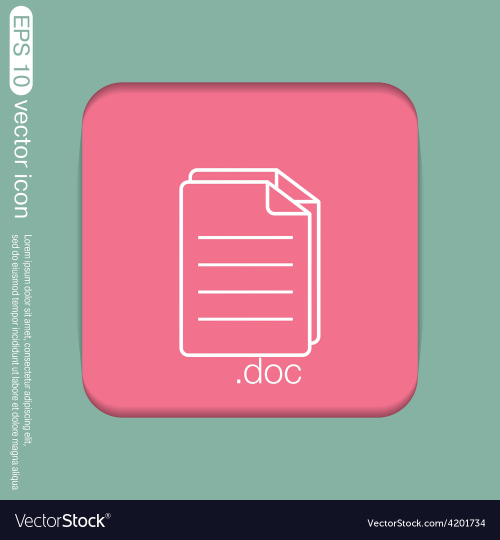 Document icon paper sheet vector | Price: 1 Credit (USD $1)