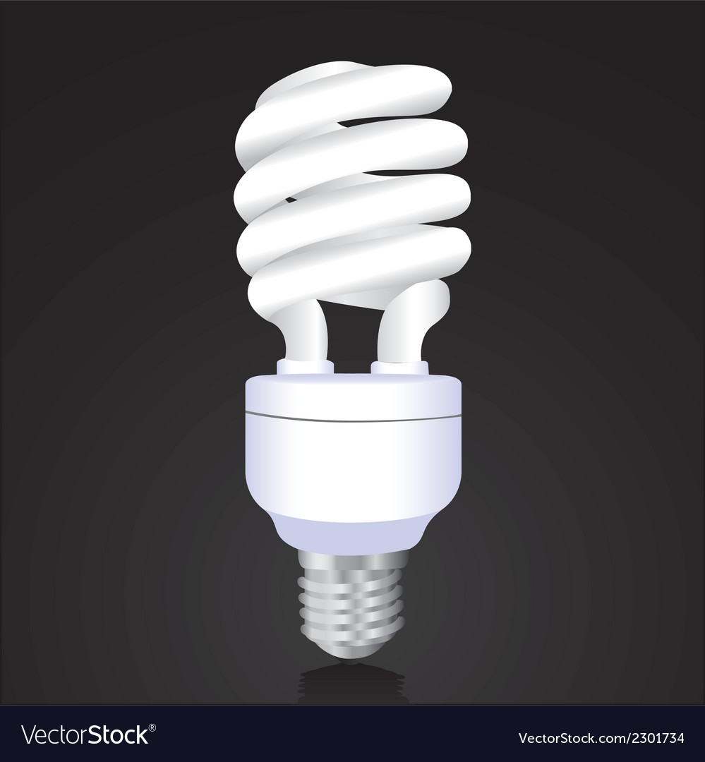 Ecological bulb isolated on black background vector | Price: 1 Credit (USD $1)