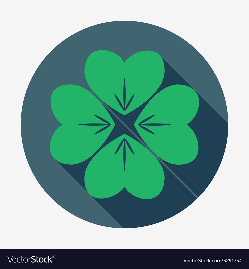 Four-leaf clover  st patricks day symbol easy vector | Price: 1 Credit (USD $1)