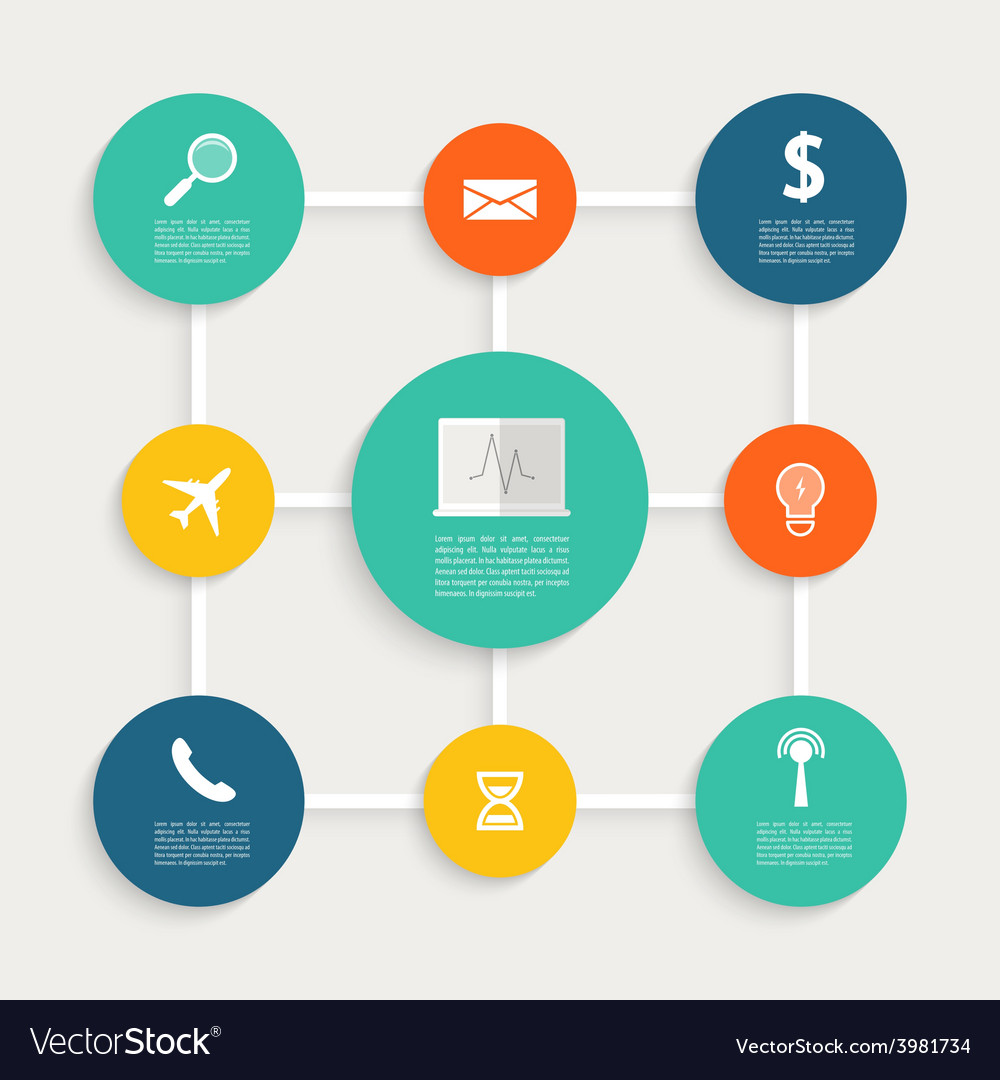 Infographic design with paper creative icons vector