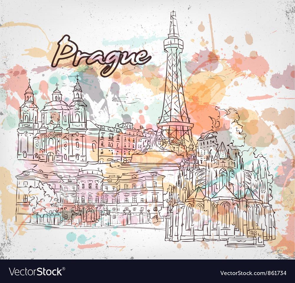 Prague doodles vector | Price: 1 Credit (USD $1)