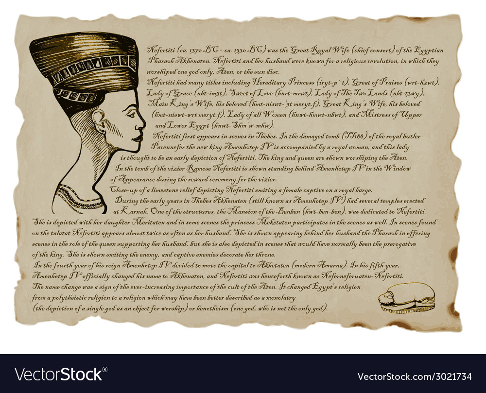 Queen nefertiti vector | Price: 1 Credit (USD $1)
