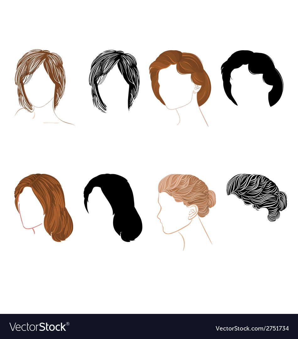 Set hair vector | Price: 1 Credit (USD $1)