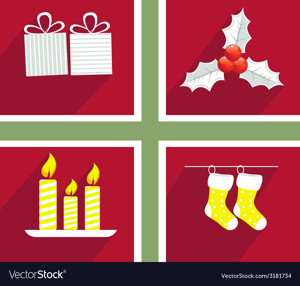 Set of elements for christmas and new year vector | Price: 1 Credit (USD $1)