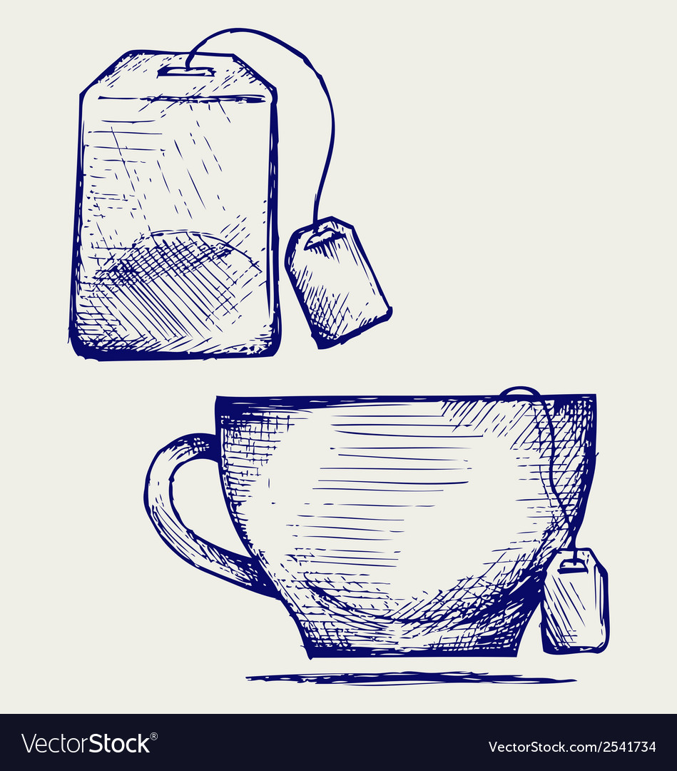 Tea bag and cup vector | Price: 1 Credit (USD $1)
