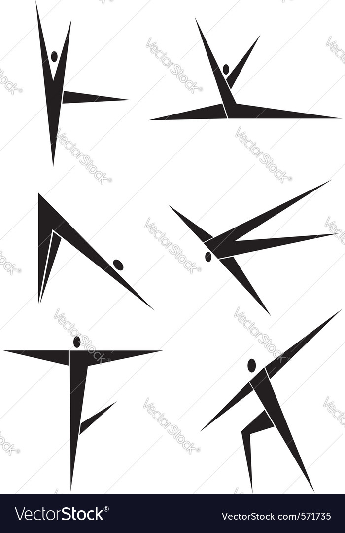Abstract people dance icons vector   Price: 1 Credit (USD $1)