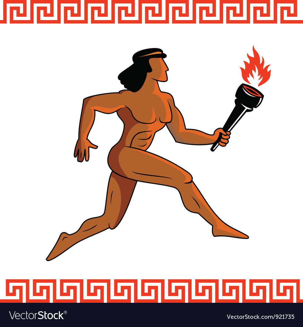 Ancient greek athlete vector | Price: 1 Credit (USD $1)