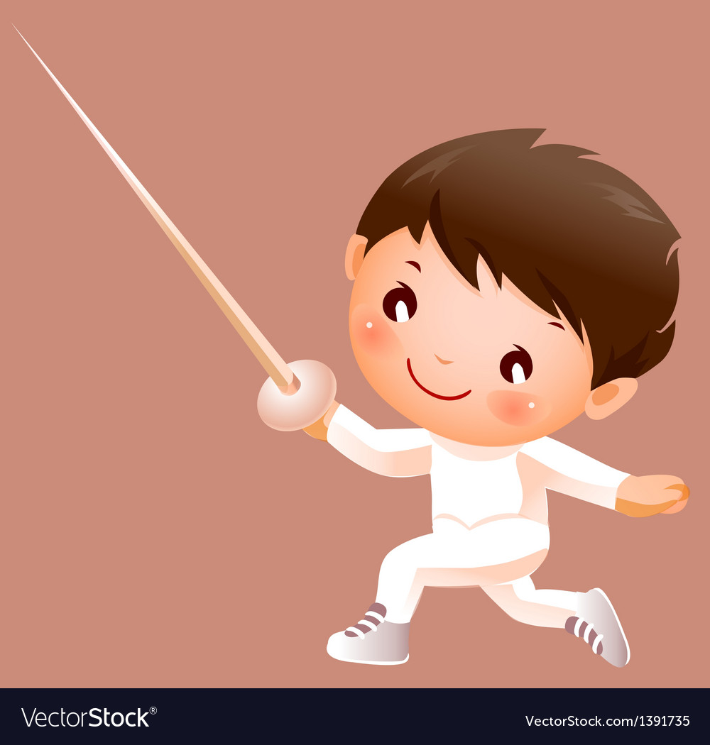 Boy in fencing costume vector | Price: 3 Credit (USD $3)