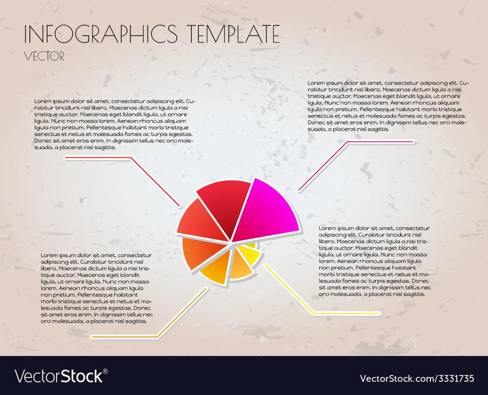 Brown infographics vector | Price: 1 Credit (USD $1)