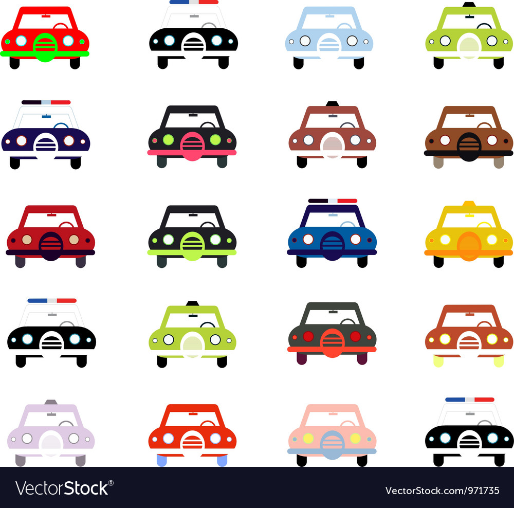 City cars in color vector | Price: 1 Credit (USD $1)