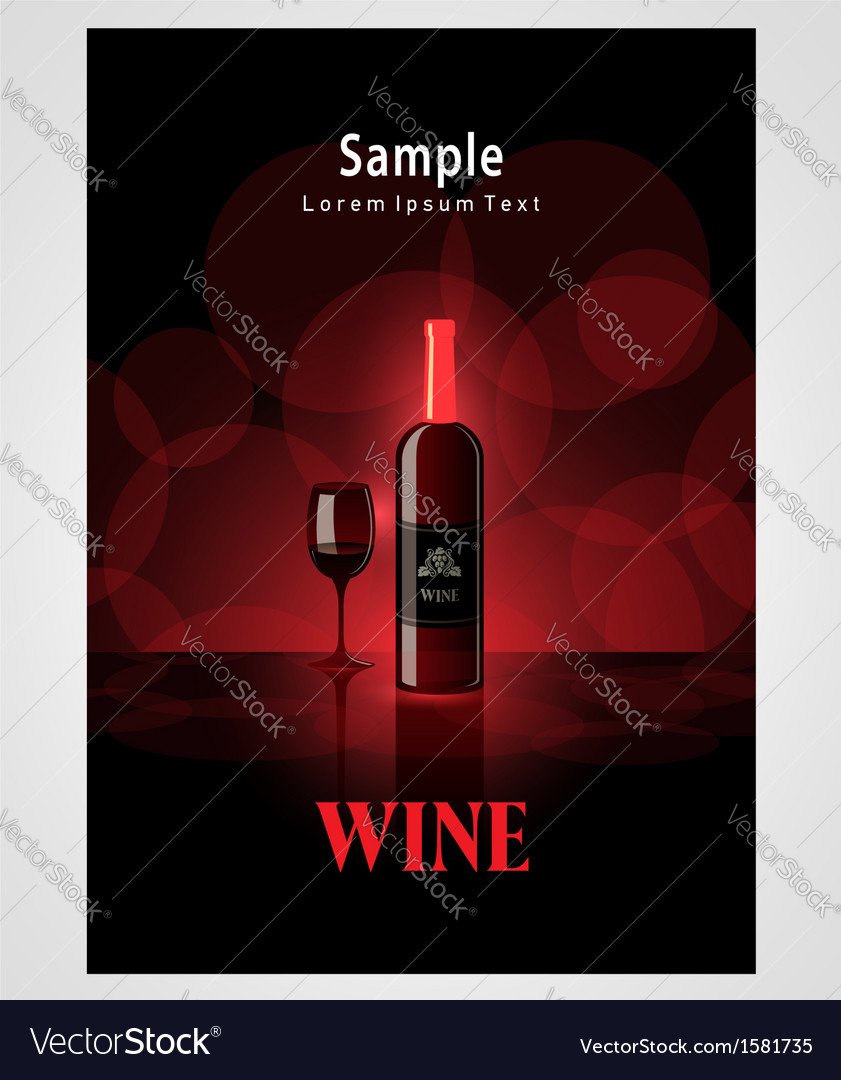 Cover poster face wine red vine bokeh background vector | Price: 1 Credit (USD $1)