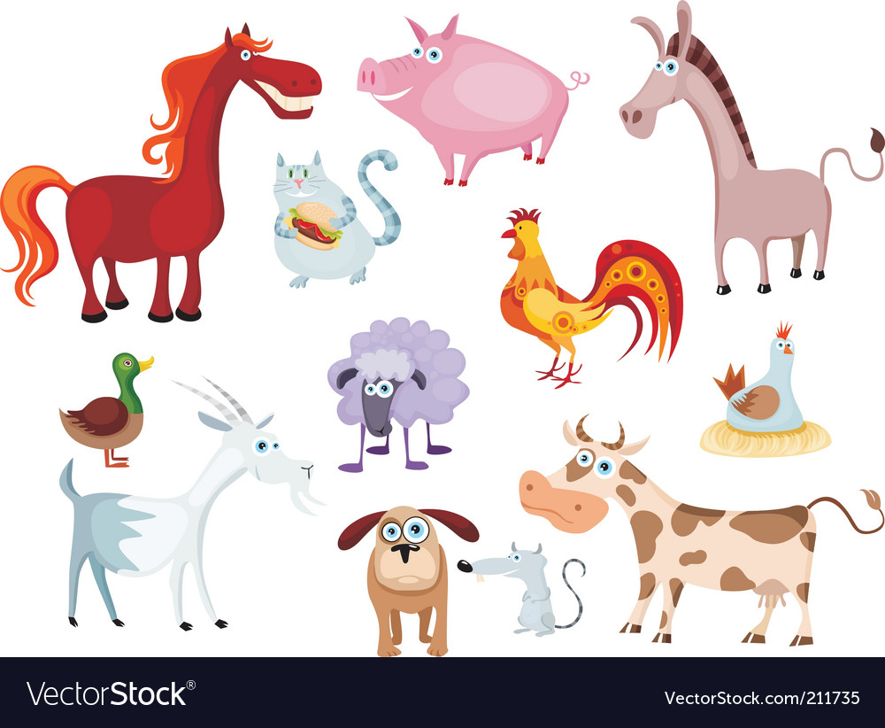 Farm animal vector | Price: 3 Credit (USD $3)