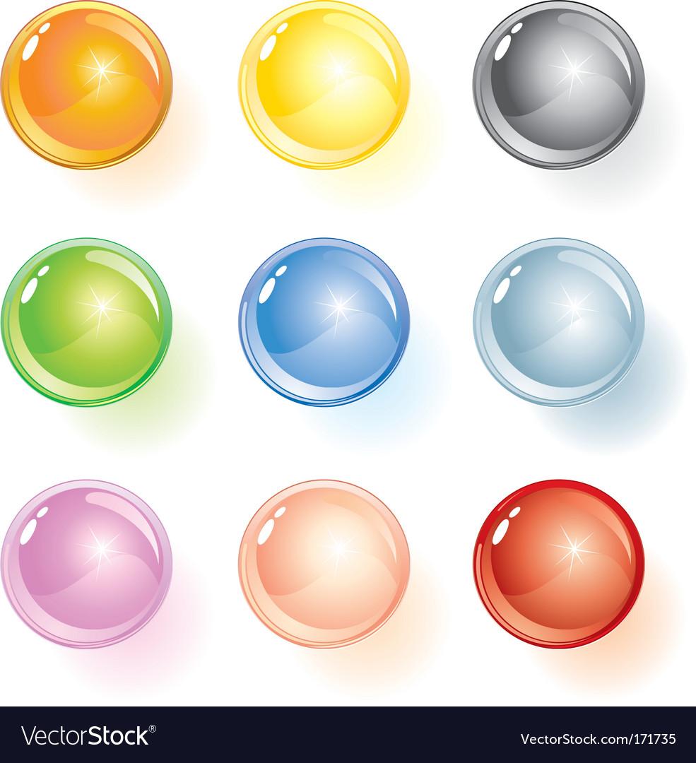 Glossy ball vector