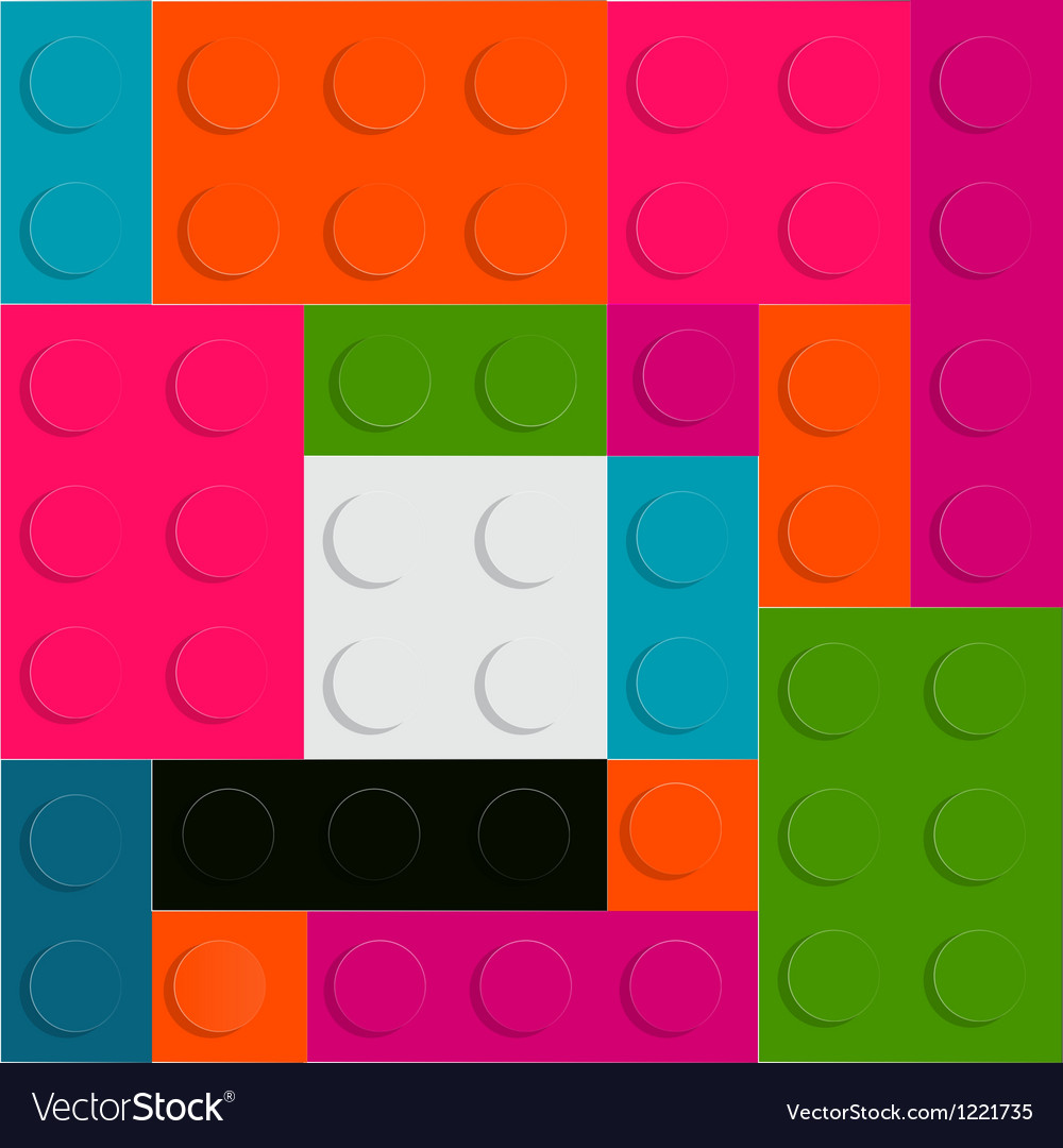 Lego block seamless pattern vector | Price: 1 Credit (USD $1)