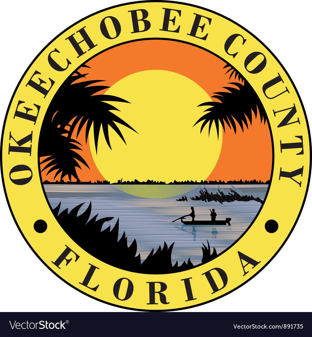 Okeechobee county seal vector | Price: 1 Credit (USD $1)