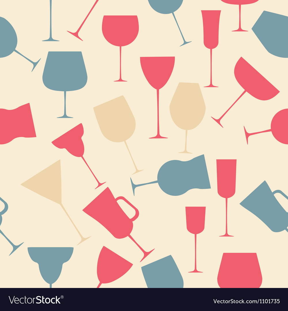 Seamless background pattern of black alcoholic vector | Price: 1 Credit (USD $1)