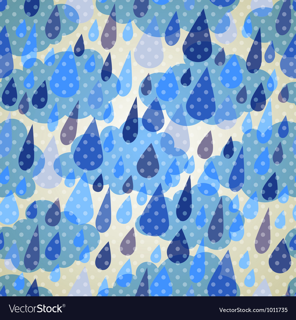 Seamless pattern with clouds and rain with dots vector | Price: 1 Credit (USD $1)