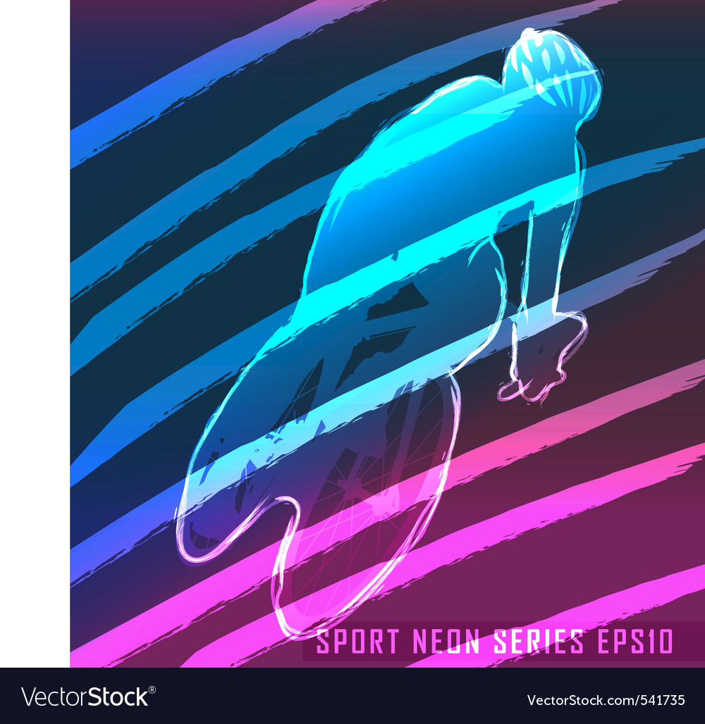 Sport neon series cycling vector | Price: 1 Credit (USD $1)