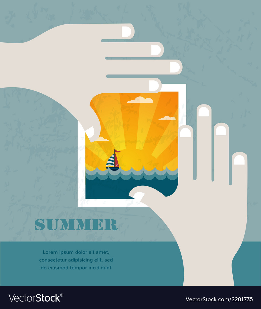 Summer vacation concept background vector | Price: 1 Credit (USD $1)