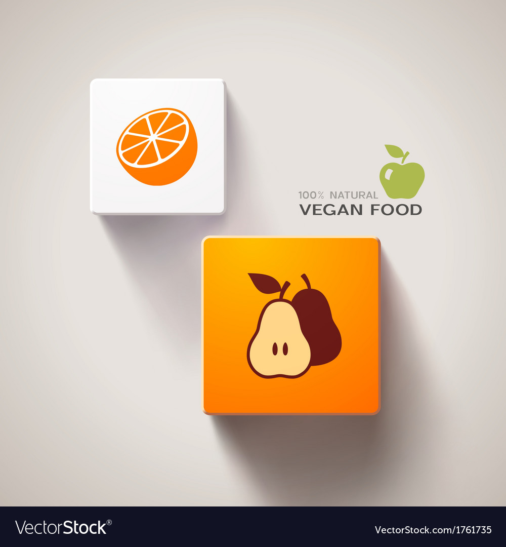 Vegan food concept vector | Price: 1 Credit (USD $1)