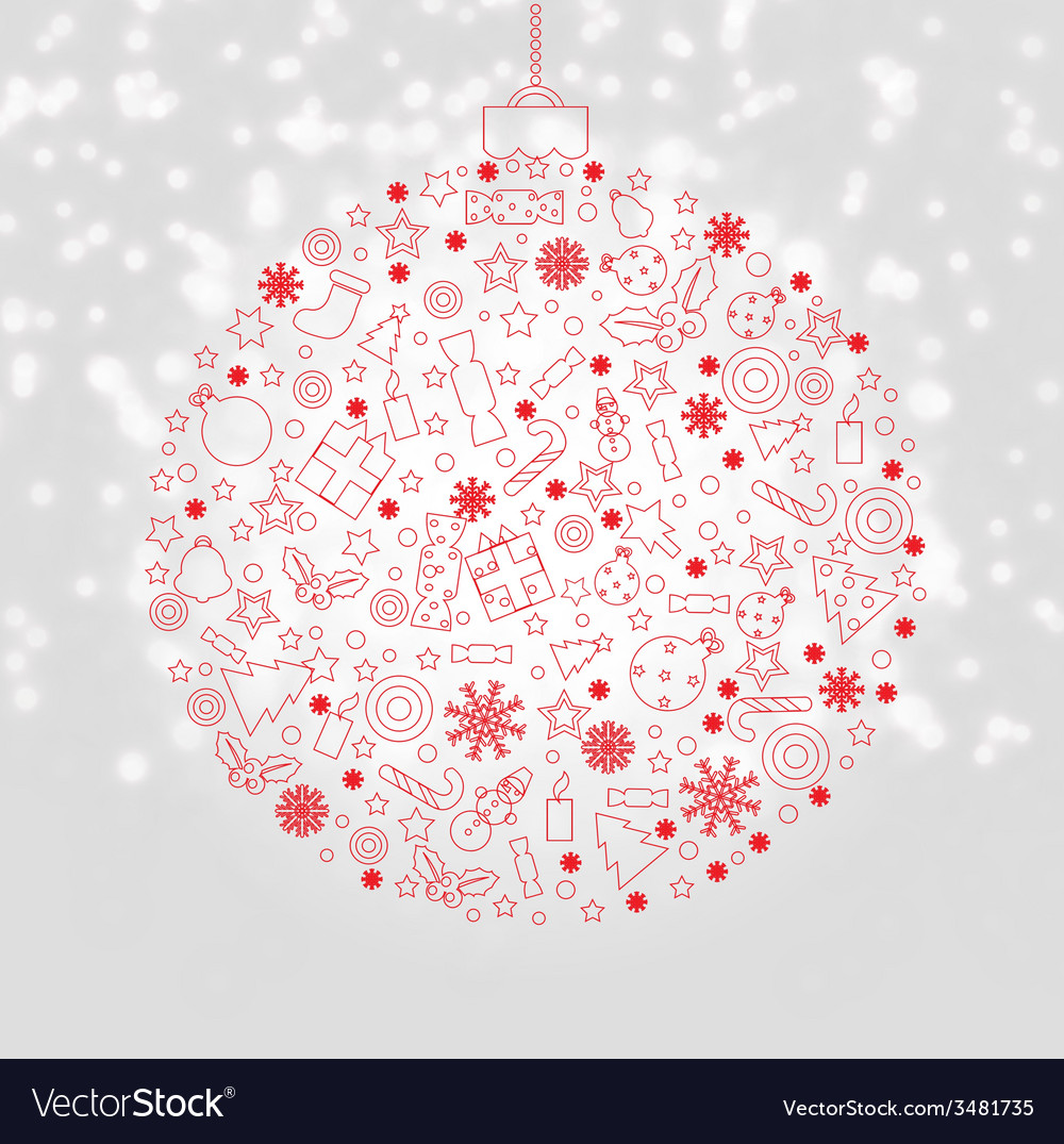 Xmas discount poster vector | Price: 1 Credit (USD $1)