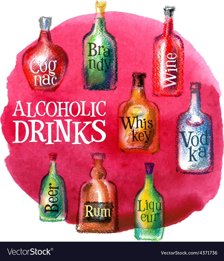 Alcoholic beverages logo design template vector | Price: 3 Credit (USD $3)