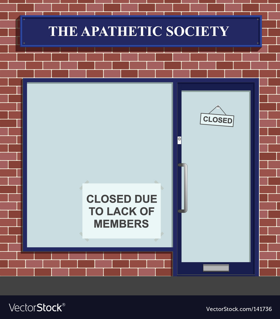 Apathetic society vector | Price: 1 Credit (USD $1)