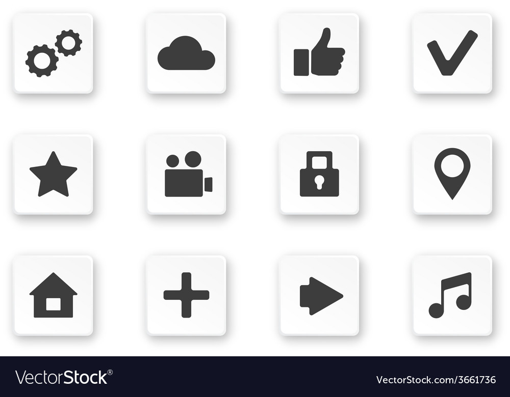 Apps icon set over white background vector | Price: 1 Credit (USD $1)