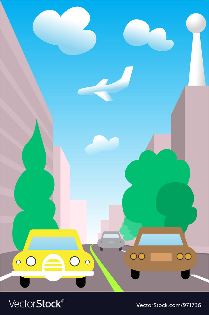 City traffic cartoon vector | Price: 1 Credit (USD $1)