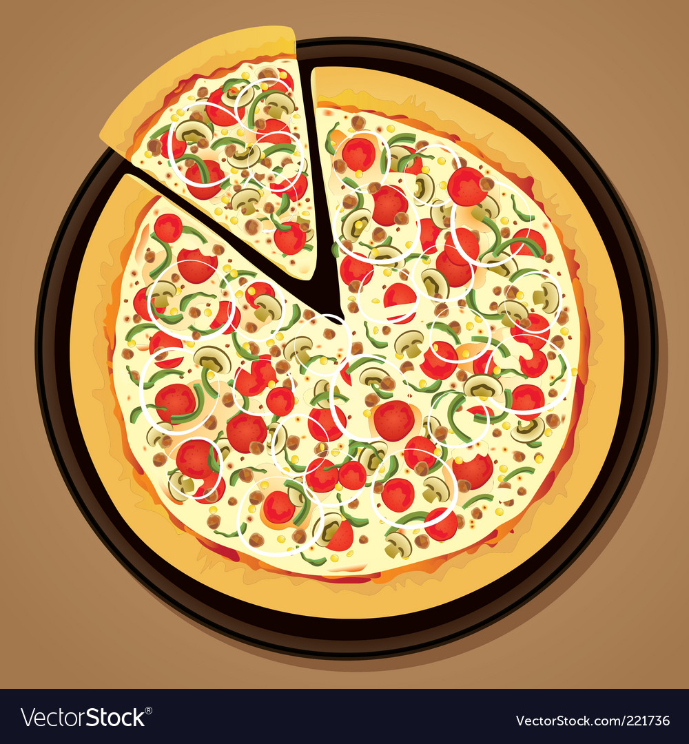 Delicious pizza vector | Price: 1 Credit (USD $1)
