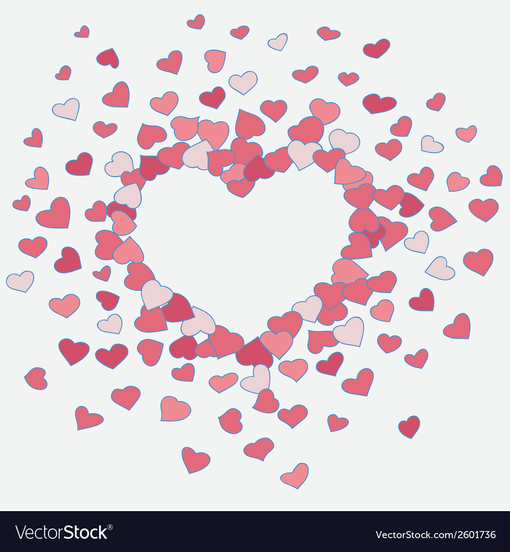 Hand drawn heart background vector | Price: 1 Credit (USD $1)