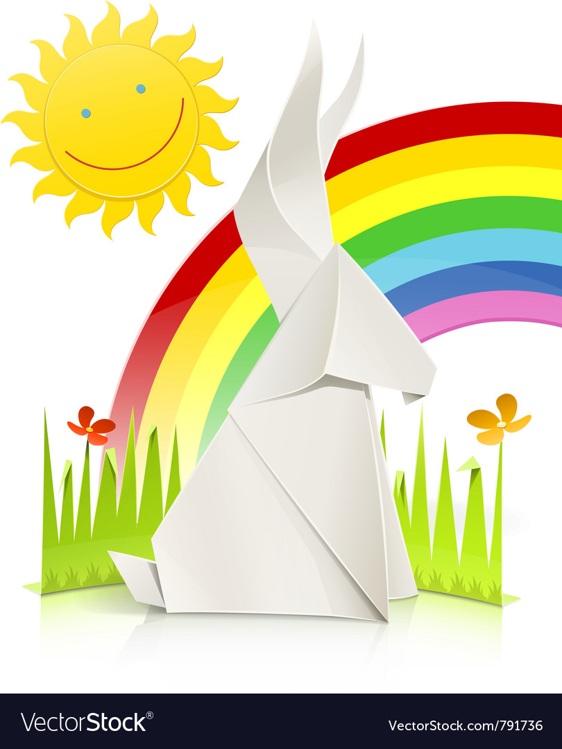 Nature scene with rabbit made vector | Price: 3 Credit (USD $3)