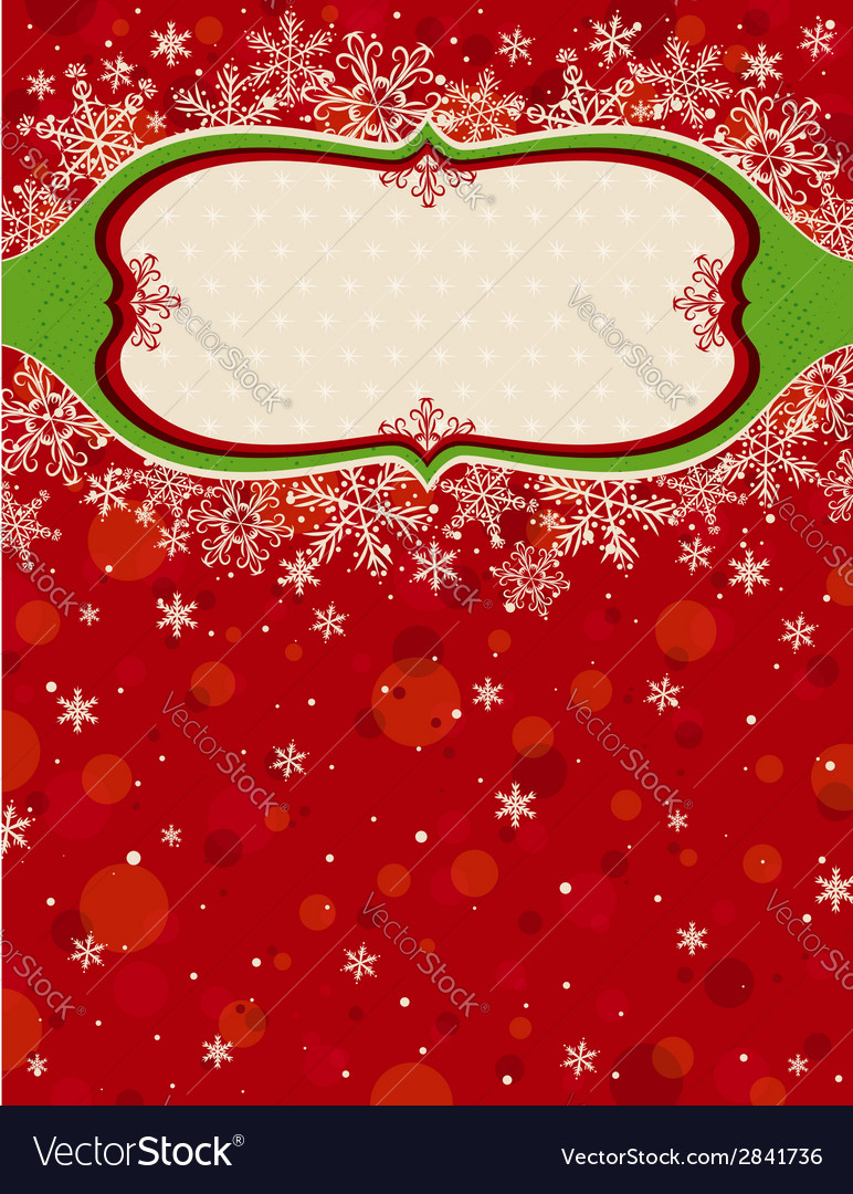 Red christmas background with snowflakes vector   Price: 1 Credit (USD $1)