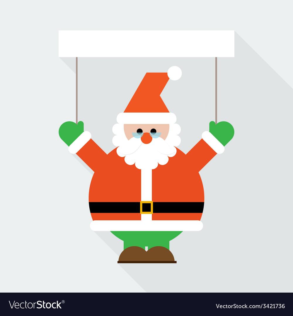 Santa claus greeting vector   Price: 1 Credit (USD $1)