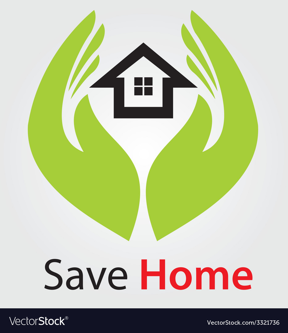 Save home concept vector | Price: 1 Credit (USD $1)