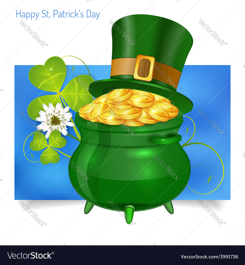 St patricks day banner vector | Price: 3 Credit (USD $3)
