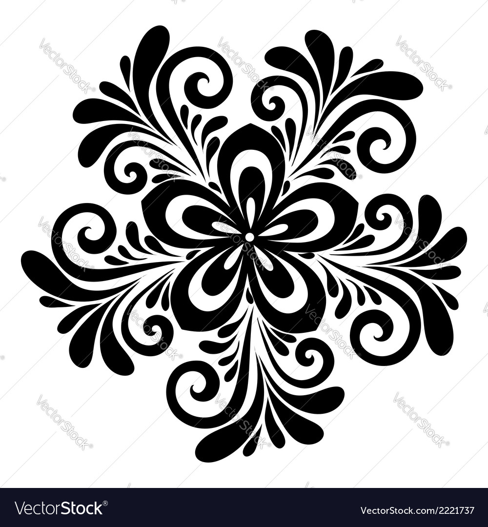 Floral pattern a design element vector | Price: 1 Credit (USD $1)