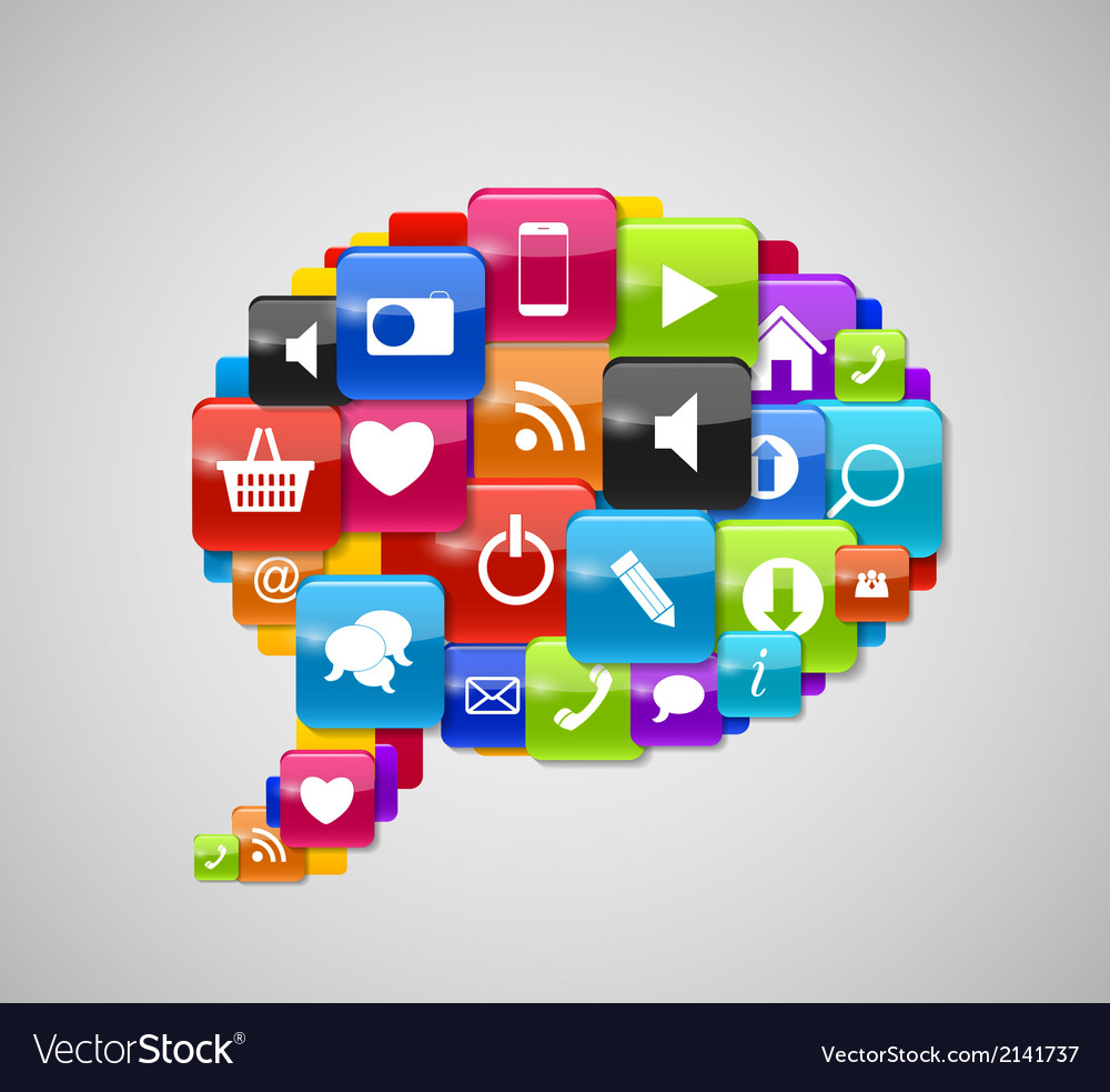 Glass button icon speech bubble vector | Price: 1 Credit (USD $1)