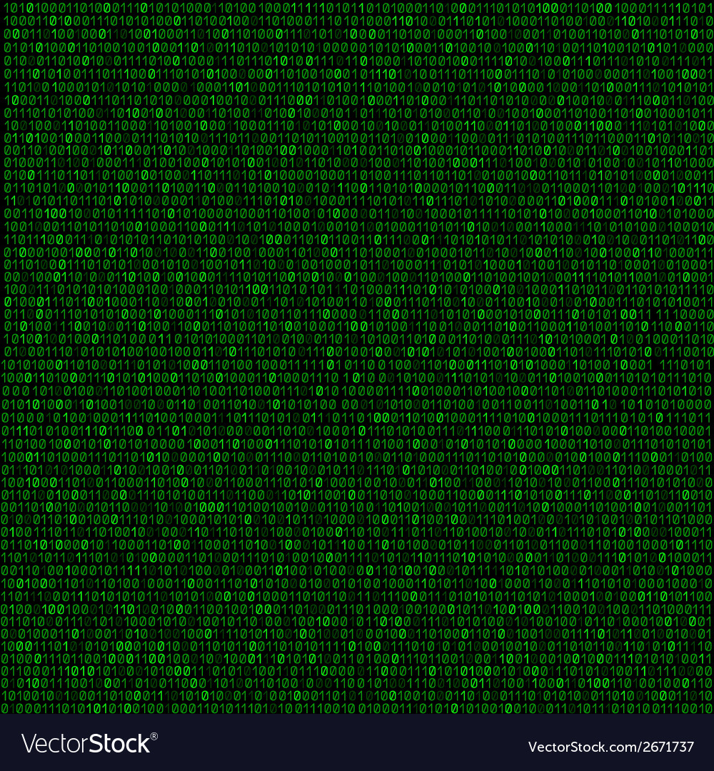 Green code background vector | Price: 1 Credit (USD $1)