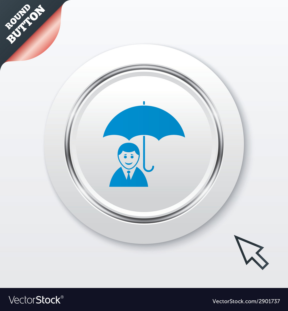 Human insurance sign icon person symbol vector | Price: 1 Credit (USD $1)