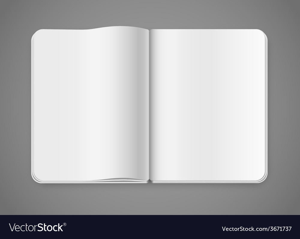 Notepad template vector | Price: 1 Credit (USD $1)