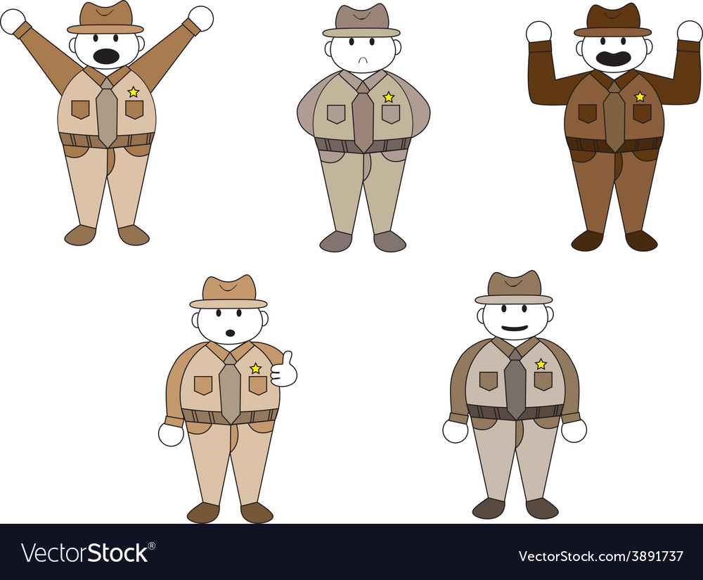 Officer cartoon character vector | Price: 1 Credit (USD $1)