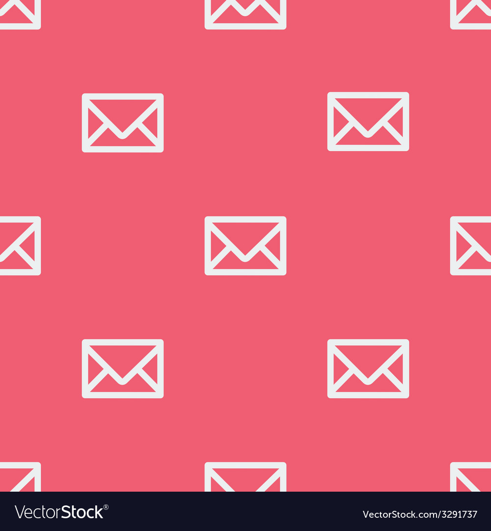 Seamless pattern with envelopes vector | Price: 1 Credit (USD $1)