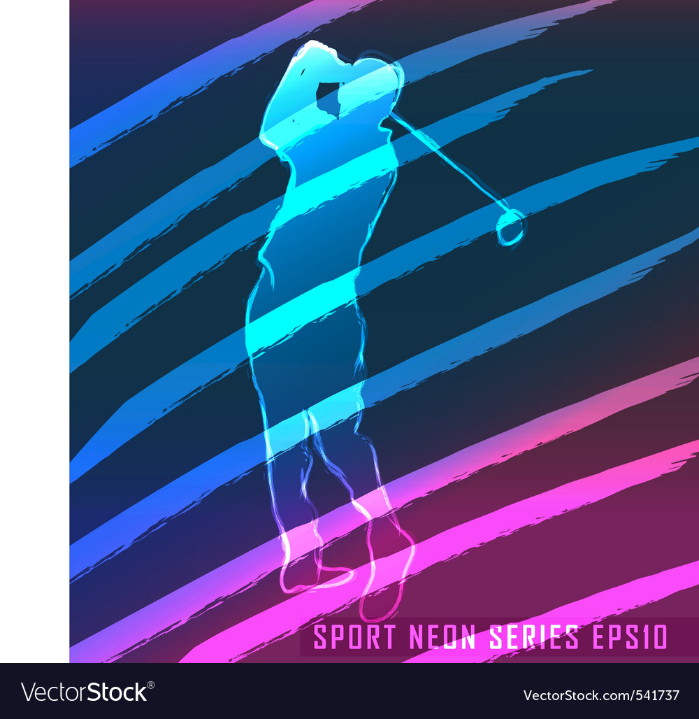 Sport neon series golf vector | Price: 1 Credit (USD $1)